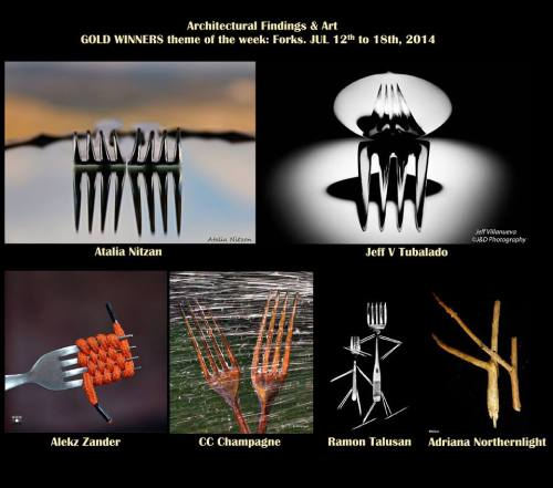 Gold Winner, Architectural Findings & Art, Theme: Forks 12-18 July