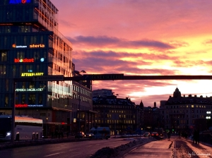 Sunset in Stockholm, photo by CC Champagne